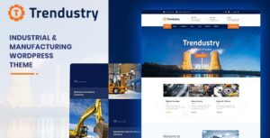 Trendustry – Industrial & Manufacturing WordPress Theme v1.0.6 nulled