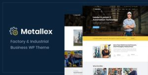 Metallex – Industrial And Engineering WordPress Theme v1.0 nulled