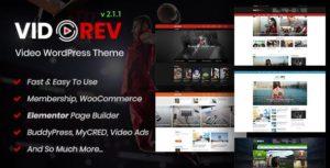 VidoRev – Video WordPress Theme 2.9.9.9.7.4 nulled