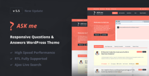 Ask Me – Responsive Questions & Answers WordPress v6.3.4 Nulled