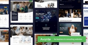 Avante   Business Consulting WordPress Theme v1.9.1 nulled