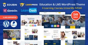Edubin – Education LMS WordPress Theme v6.5.8 nulled