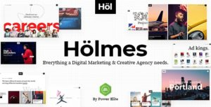 Holmes – Digital Agency WordPress Theme v1.3.1 Nulled