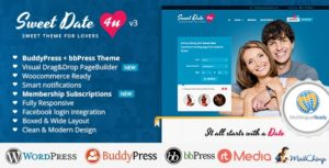 Sweet Date – Dating WordPress Theme v3.6.0 nulled
