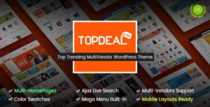 TopDeal – Multi Vendor Marketplace WordPress Theme (Mobile Layouts Ready) v1.8.0 Nulled
