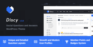 Discy – Social Questions and Answers WP Theme v4.3 Nulled