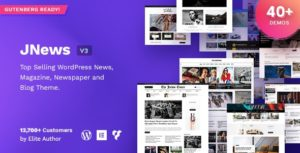 JNews – WordPress Newspaper Magazine Blog AMP Theme v7.1.7 Nulled