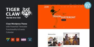 Tiger Claw | Martial Arts School and Fitness Center WordPress Theme v1.1.2 nulled