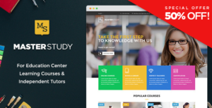Masterstudy – Education WordPress Theme for Learning, Training Education Center v4.1.2 Nulled