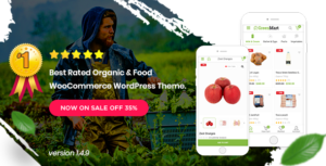 Greenmart – Organic & Food Woocommerce WordPress Theme v3.0.1 nulled