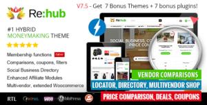 REHub – Price Comparison, Affiliate Marketing, Multi Vendor Store, Community Theme v13.3 Nulled