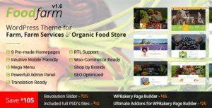 FoodFarm – WordPress Theme for Farm, Farm Services and Organic Food Store v1.8.7 nulled