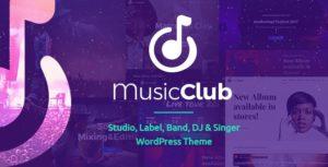 Music Club – Studio, Label, Band, DJ or Singer WordPress Theme v1.1.9 nulled