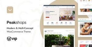 PeakShops – Modern & Multi-Concept WooCommerce Theme v1.4.2 Nulled