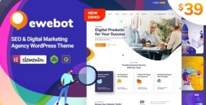Ewebot – SEO Marketing & Digital Agency v2.2.7 theme nulled
