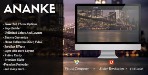 Ananke – One Page Parallax WordPress Theme v3.8.6 nulled