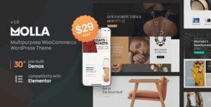 Molla | Multi-Purpose WooCommerce Theme v1.2.2 Nulled