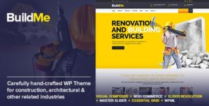 BuildMe – Construction & Architectural WP Theme v4.6 nulled