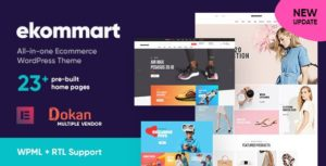 Ekommart – All-in-one eCommerce WordPress Theme v3.1.0 nulled